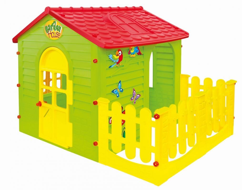 MOCHTOYS Domek malý s plotem
