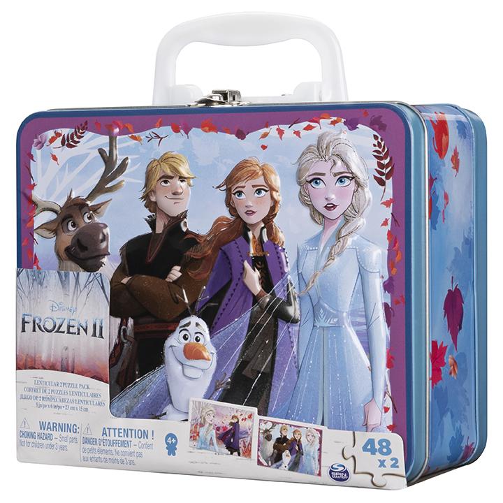 Spin Master SMG Frozen 2 Puzzle v plechovém kufříku