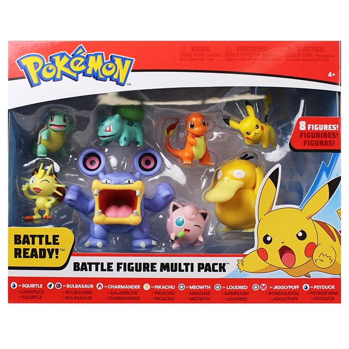 Wicked Cool Toys Pokémon figurky Pikachu multipack (8-Pack)