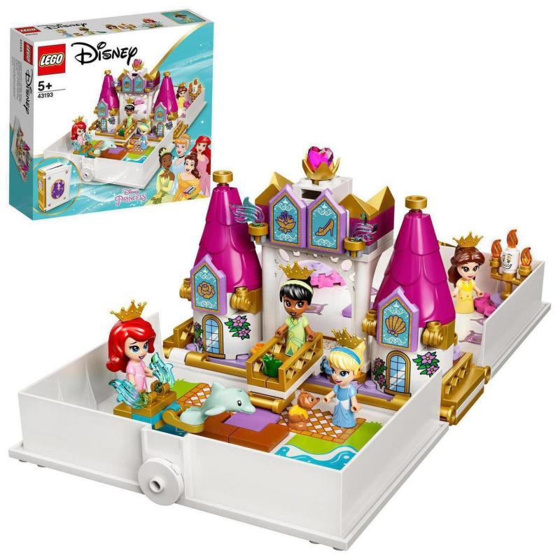 LEGO® I Disney Princess™ 43193 Ariel, Kráska, Popelka a Tiana a jejich pohádková kniha dobrodružst