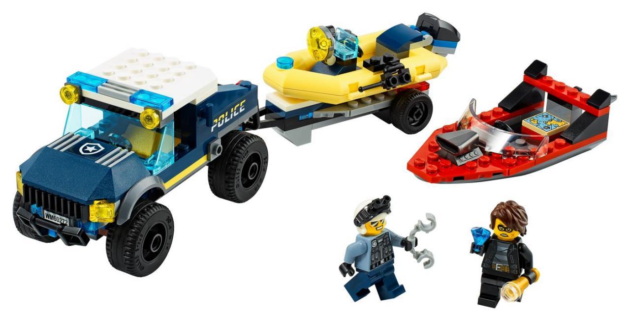 LEGO CITY 60272 Přeprava člunu elitní policie