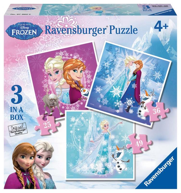 Ravensbureg puzzle Disney Ledové království 3 v 1 25-49 dílků