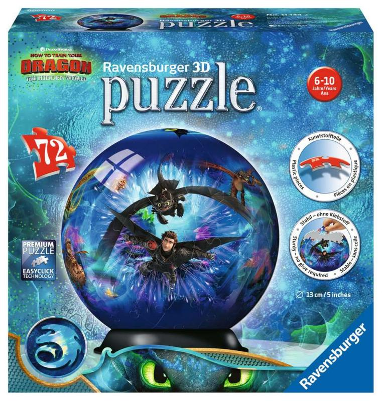 RAVENSBURGER Puzzle-Ball Jak vycvičit draka 3 72 dílků