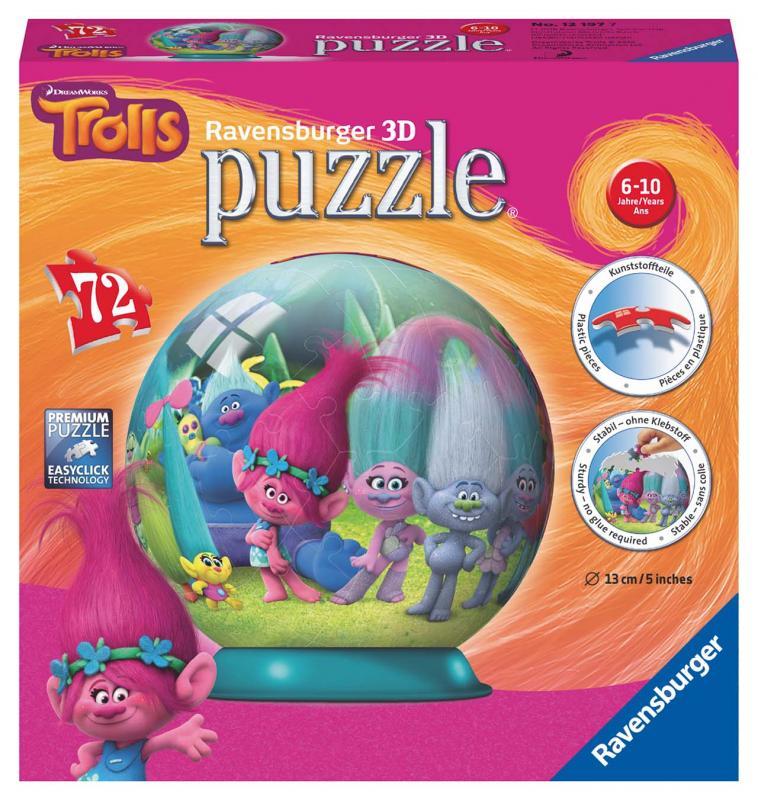 Ravensburger puzzle Trollové puzzleball 72 dílků