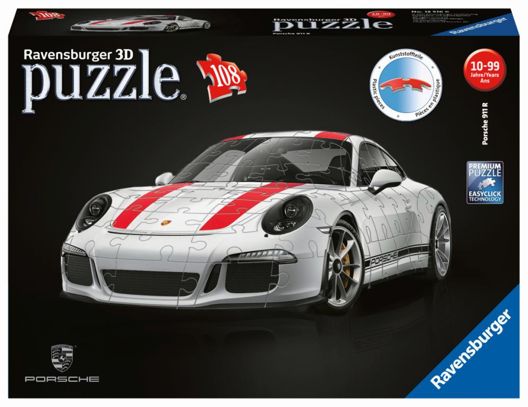 3d puzzle porsche 911r. Black Bedroom Furniture Sets. Home Design Ideas