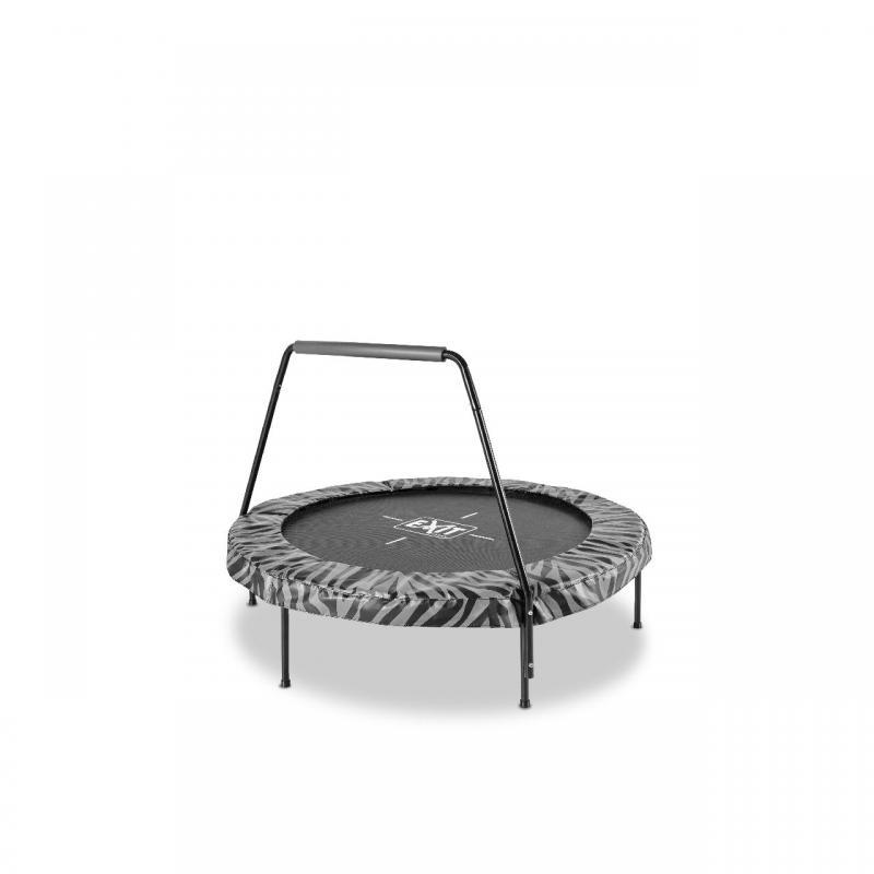 EXIT TOYS Tiggy juniorská trampolína s tyčí ø140cm - černá / šedá