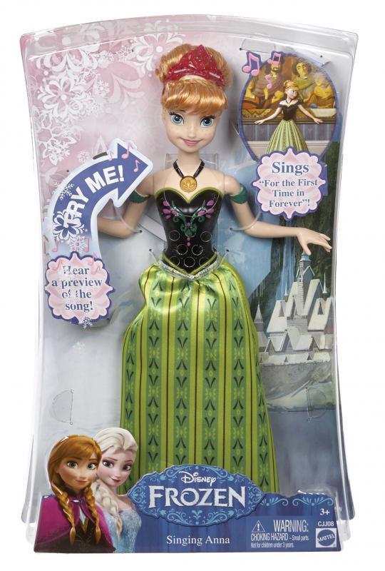 Mattel Ledové království Zpívající Anna