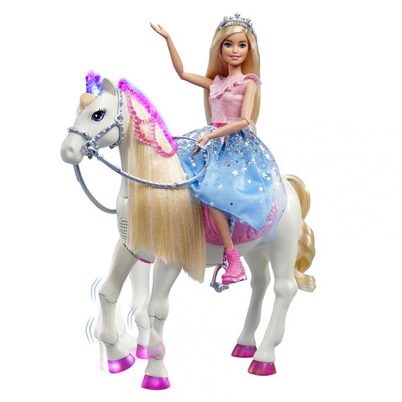 Mattel Barbie Princess Adventure Princezna a kůň se světly a zvuky
