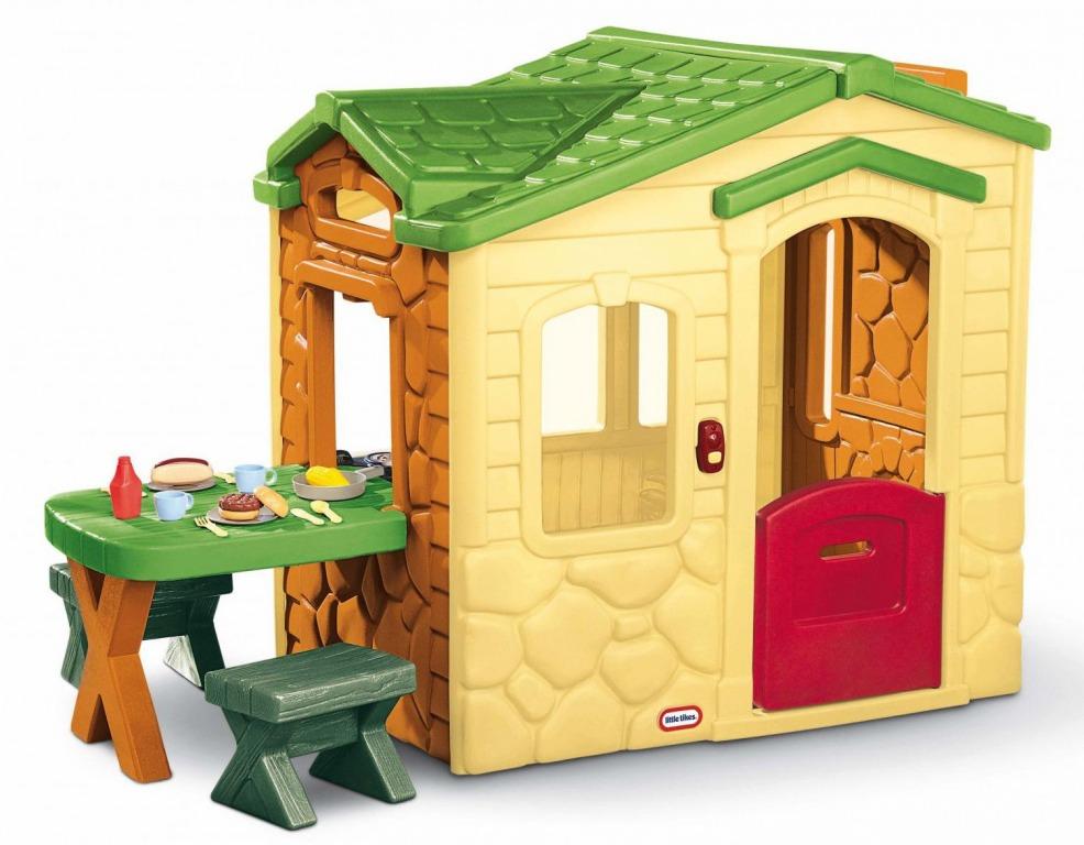 LITTLE TIKES Domček s piknikovým stolíkom - Natural