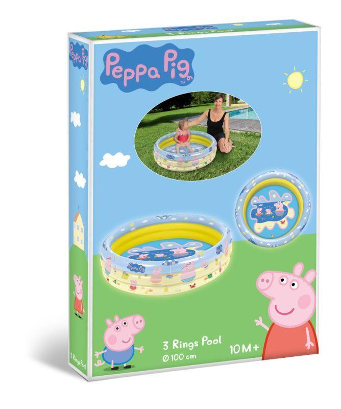 Mondo Nafukovací bazének Peppa PIG tři kruhy průměr 100cm