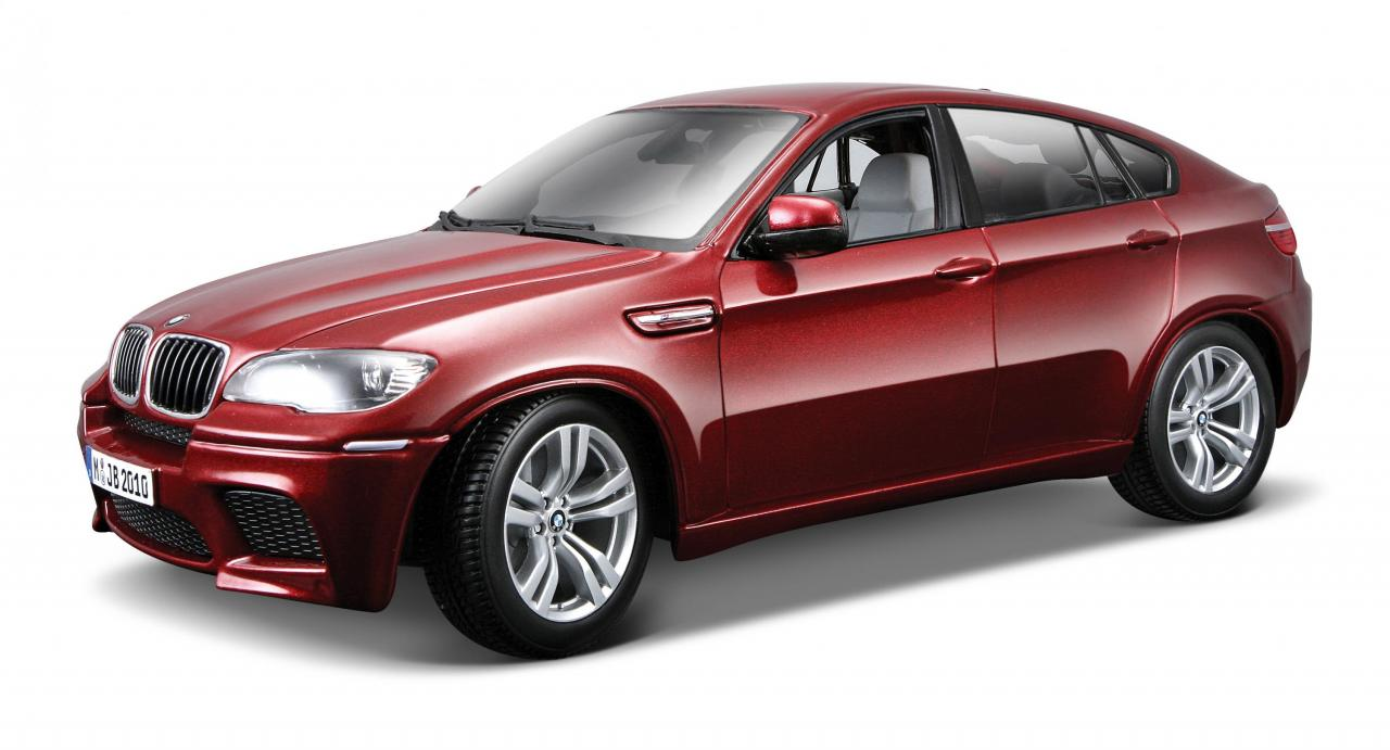 Bburago BMW X6 M 1:18 červený