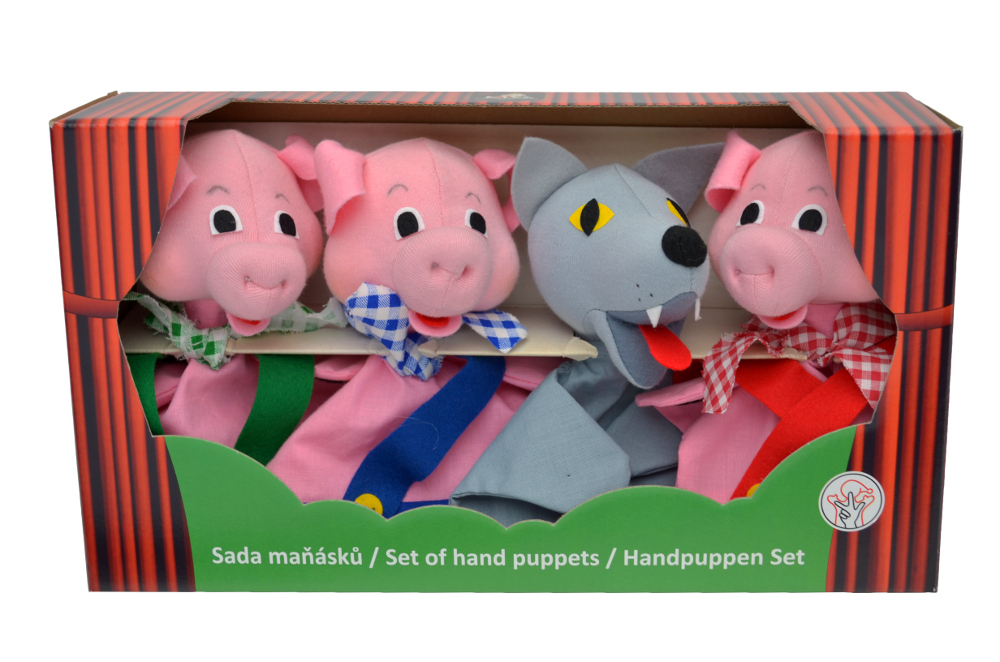 6c67eb82e Krabička maňásků -Tři prasátka+vlk