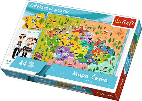 Trefl Vzdělávací puzzle Mapa České republiky 44 dílků