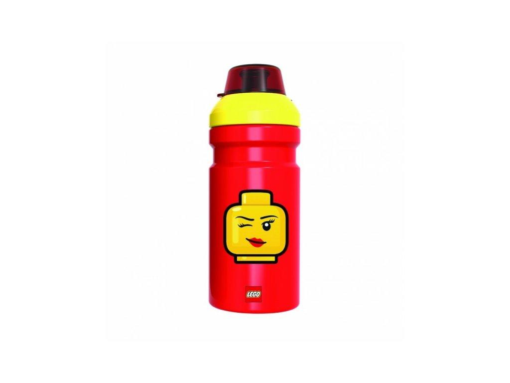 Lego Iconic Girl láhev na pití - žlutá/červená