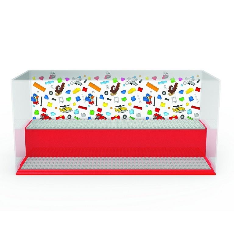 LEGO ICONIC herní a sběratelská skříňka - červená