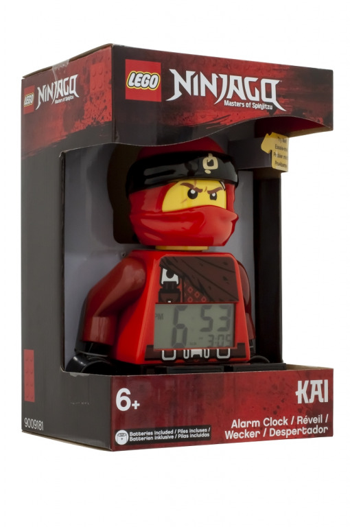 LEGO Ninjago Kai - hodiny s budíkem