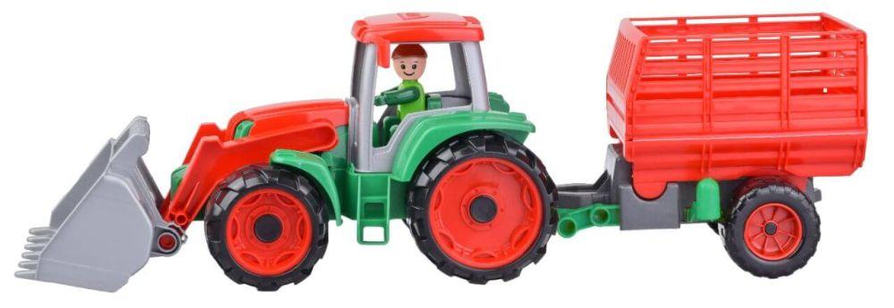 LENA Truxx Traktor s přívěsem na seno, ozdobný kartón