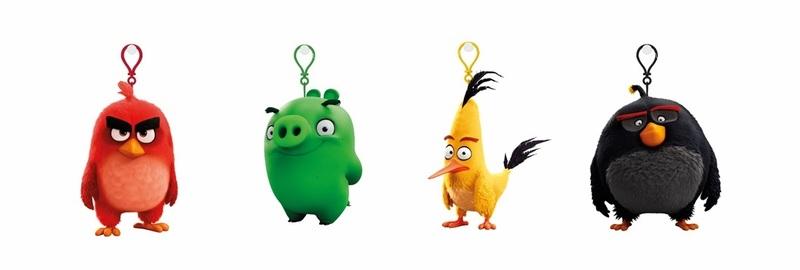 ADC BLACKFIRE Angry Birds: 9 cm plyšová hračka s nylon přívěskem