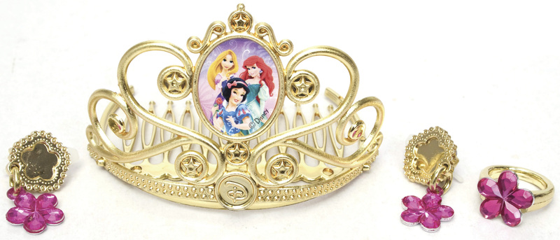 Disney princezny - Zlatá korunka a šperky pro princeznu