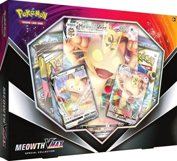 Wizard Pokémon TCG: Meowth VMAX Box