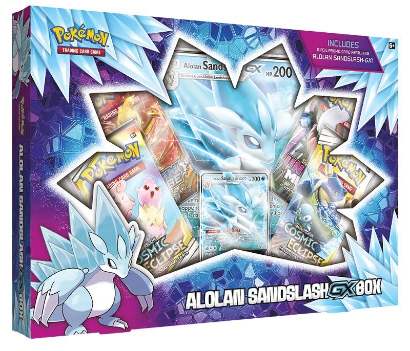 ADC BLACKFIRE Pokémon TCG: Alolan Sandslash-GX Box