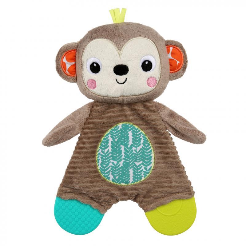 Bright Starts Hračka - kousátko Snuggle&Teethe opice 0m+