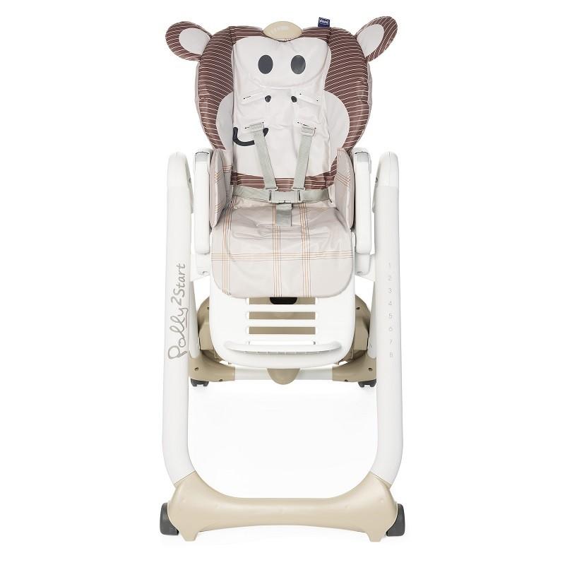 CHICCO Židlička jídelní Polly 2 Start - Monkey