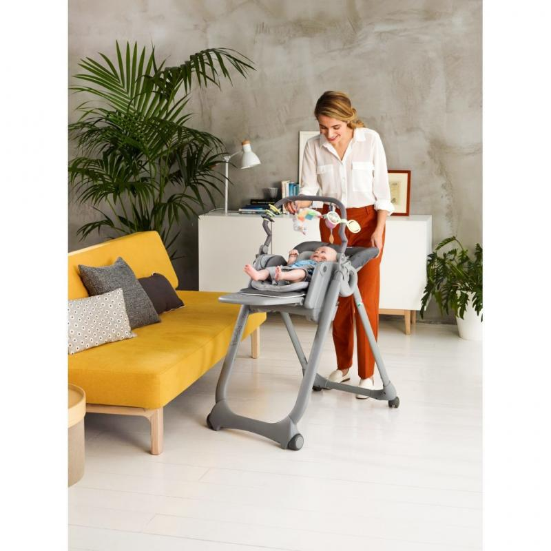 CHICCO Židlička jídelní Polly Magic Relax - Graphite