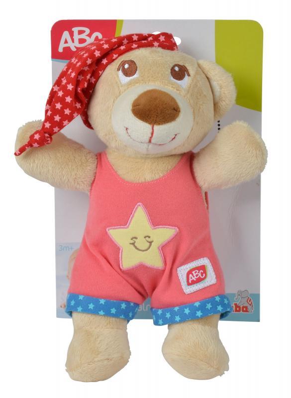 Simba Plyšový medvídek usínáček 25cm - Růžová barva