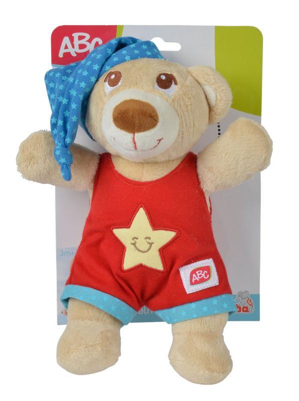Simba Plyšový medvídek usínáček 25cm - Červená barva