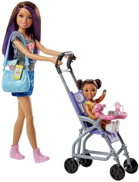 Mattel Barbie Chůva herní set Kočárek