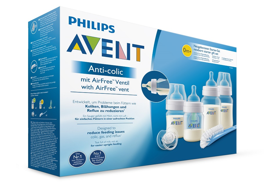 AVENT Novorozenecká startovní sada Anti-colic,ventil AirFree