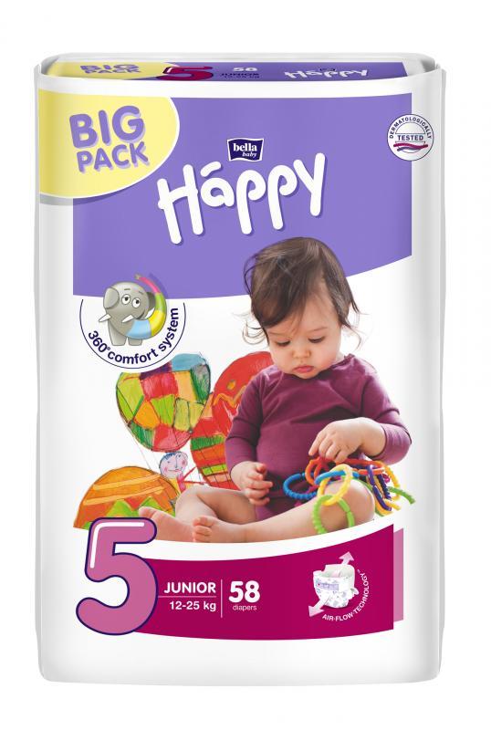 Happy plenky Junior 58 ks – BIG PACK