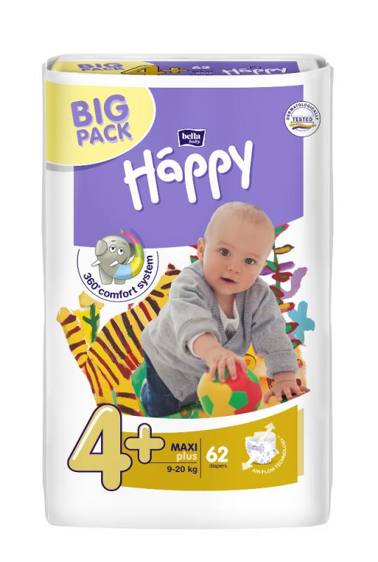 Happy plenky Maxi Plus 62 ks – BIG PACK