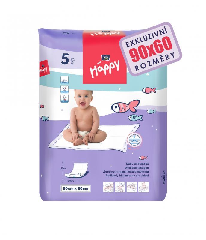 Happy hygienické podložky 60 x 90 cm 5 ks