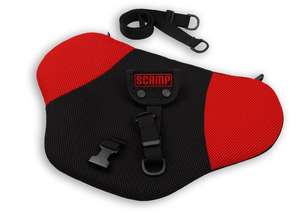 Scamp bezpečnostní pás pro těhotné Comfort Isofix, červený