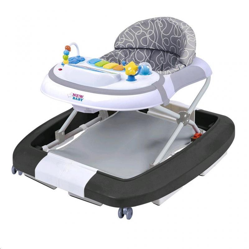New Baby Dětské chodítko s houpačkou a silikonovými kolečky Magic Sea World