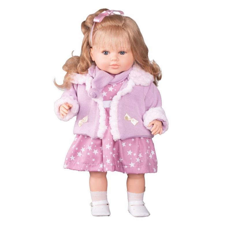 Berbesa Luxusní mluvící dětská panenka-holčička Kristýna 52cm