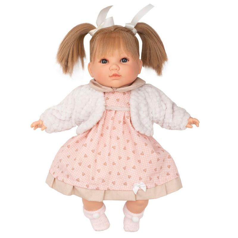 Berbesa Luxusní mluvící dětská panenka-holčička Natálka 40cm