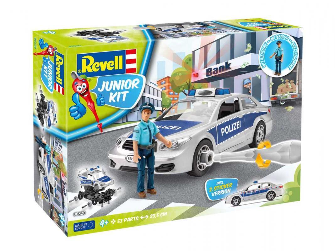 Corfix Junior Kit auto 00820 - Police Car with figure (1:20)