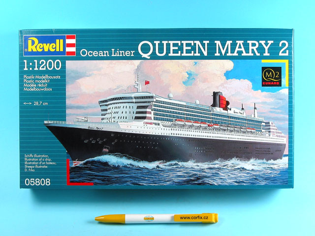 Corfix Plastic ModelKit loď 05808 - Queen Mary 2 (1:1200)