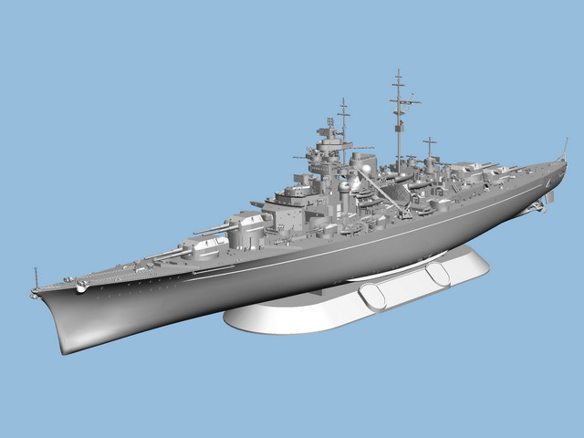 Corfix Plastic ModelKit loď 05098 - Battleship Bismarck (1:700)