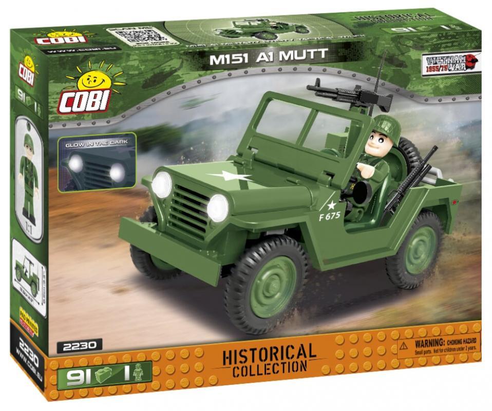 Cobi Small Army M151 A1 MUTT, 91 k, 1 f