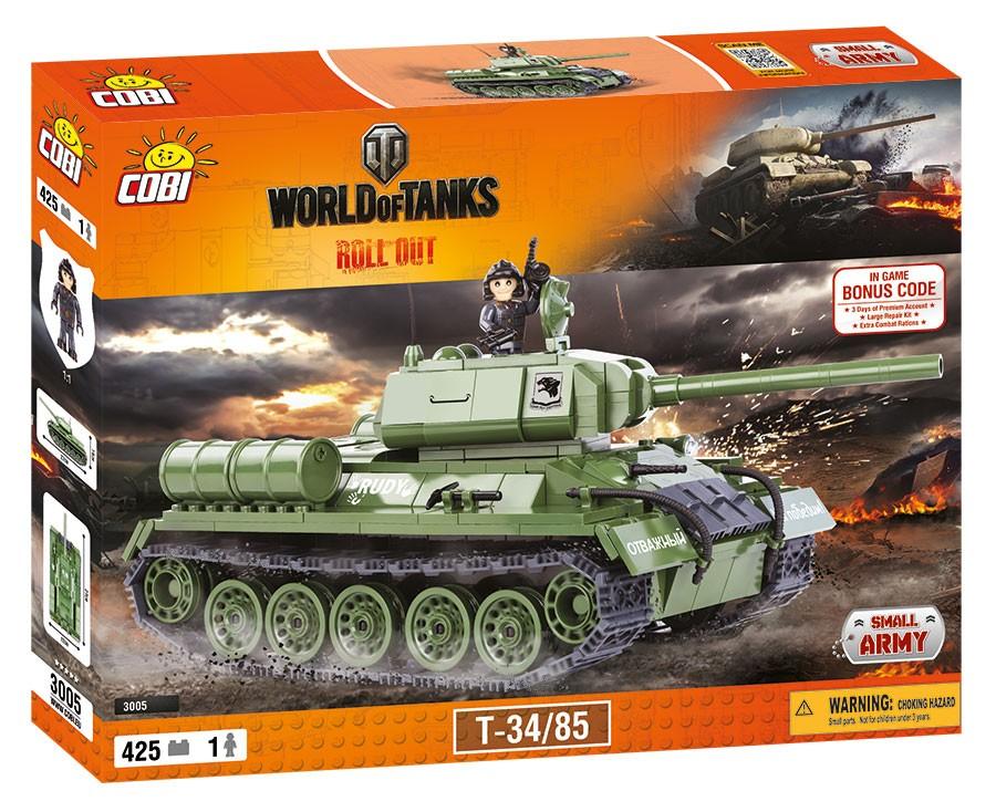 Cobi Tank WOT T34/85, 420 k, 1 f