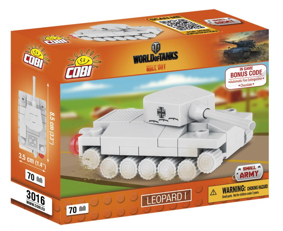 Cobi World of Tanks Nano Tank Leopard 1, 70 k