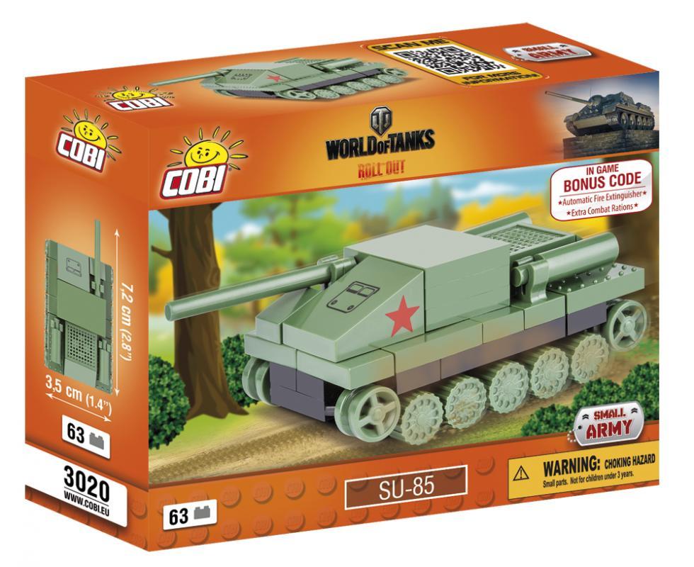 Cobi World of Tanks Nano Tank SU 85, 63 k