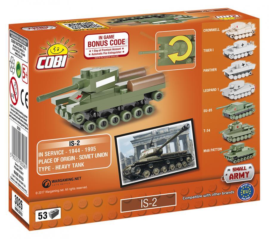 Cobi World of Tanks Nano Tank IS2, 53 k