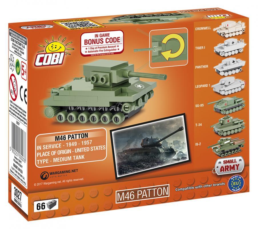 Cobi World of Tanks Nano Tank M46 Patton, 66 k