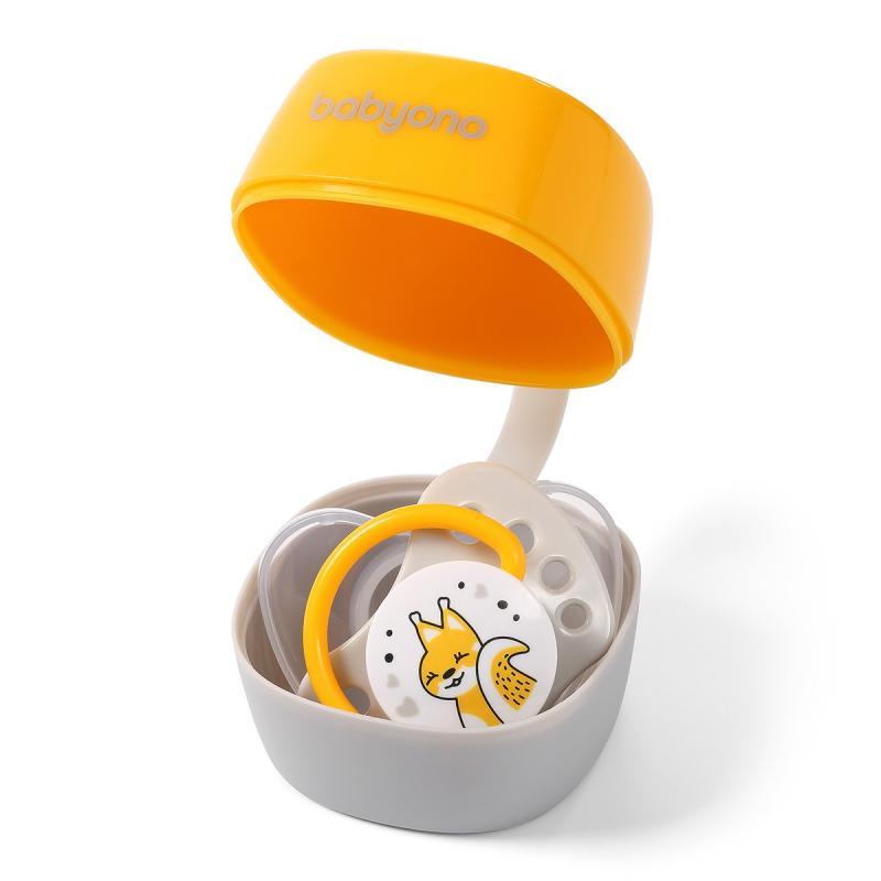 BabyOno pouzdro na dudlík žlutá