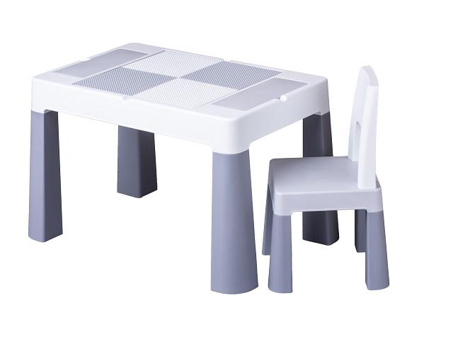 TEGA BABY Sada nábytku pro děti Multifun - stoleček a židlička - šedá
